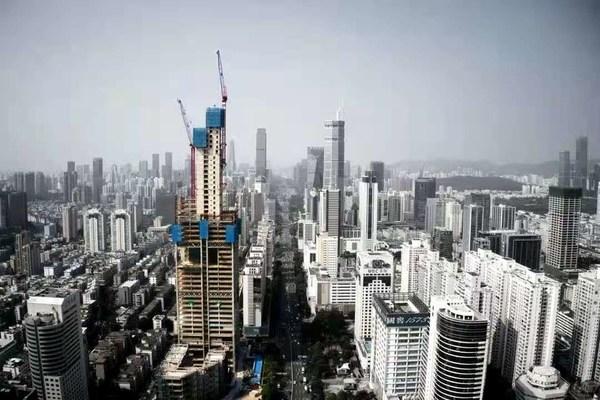 佳兆业金融科技中心封顶 日立电梯提供全部电扶梯产品及服务