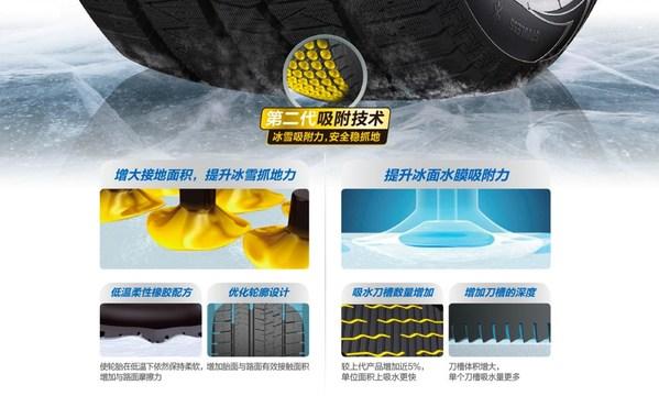 佳通冬季胎由第二代吸附技术加持