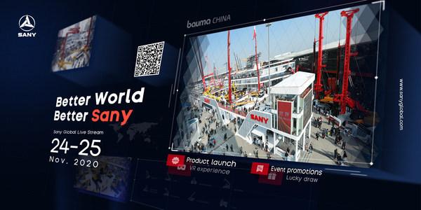 การไลฟ์สดทั่วโลกครั้งแรกของ SANY ในงาน bauma CHINA 2020