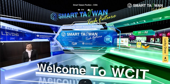 Brand-new 3D Taiwan Pavilion at WCIT 2020 Starts Online from Nov. 18 to Nov. 20. CISA invites 35 institutions from Taiwan to set up 37 booths to show the latest tech solutions from Taiwan.