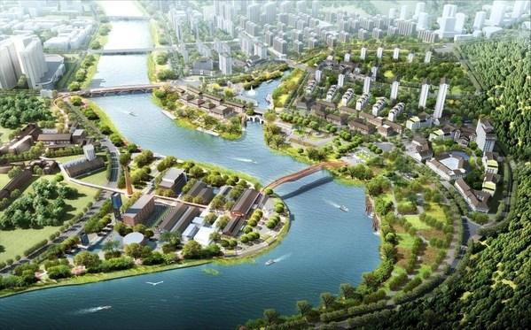 """浏阳河""""一河两岸""""文旅项目效果图"""