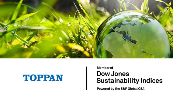 Toppan named to DJSI World Index for four consecutive years ©Toppan Printing Co., Ltd.