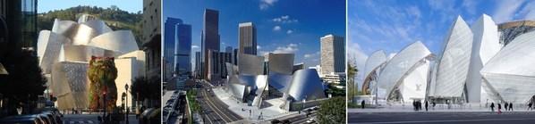 毕尔巴鄂古根海姆美术馆,洛杉矶迪士尼音乐厅,巴黎路易威登基金会艺术中心