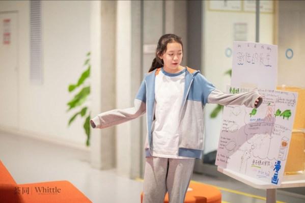 荟同八年级学生为同学、老师讲解