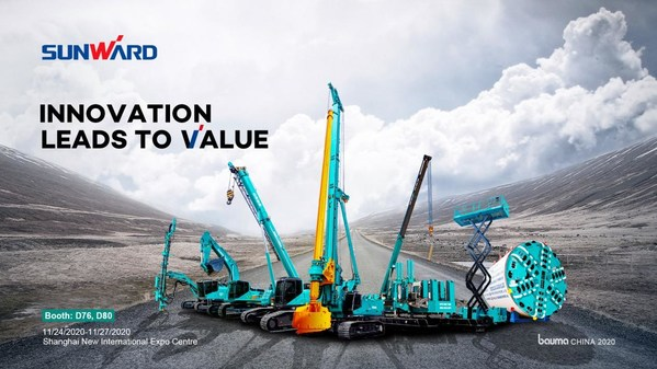 Sunward to Showcase 38 Equipment at bauma CHINA 2020