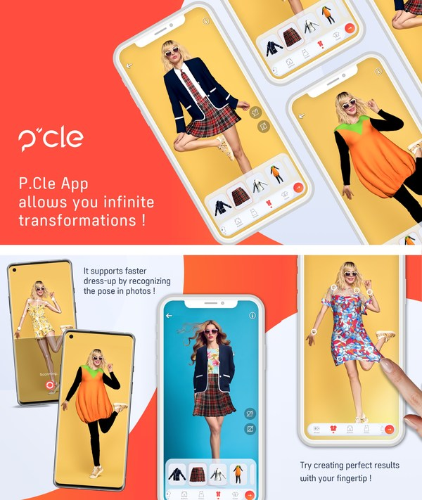 "Pocket Memory, the Corporation Specializing in Creating VR Content, Introduces the Virtual Fashion Lifestyle Mobile app ""P.Cle"""