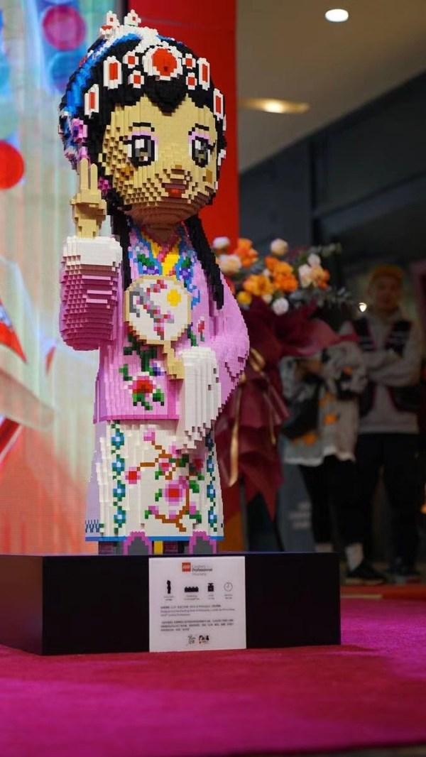 """乐高3D雕塑-""""金华婺剧"""" -- 共使用大约112,000个乐高积木颗粒,耗时400小时"""