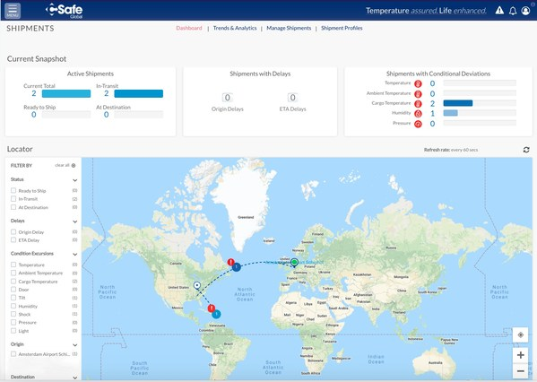 CSafe Global Launches an Industry First: Real-Time Shipment Visibility