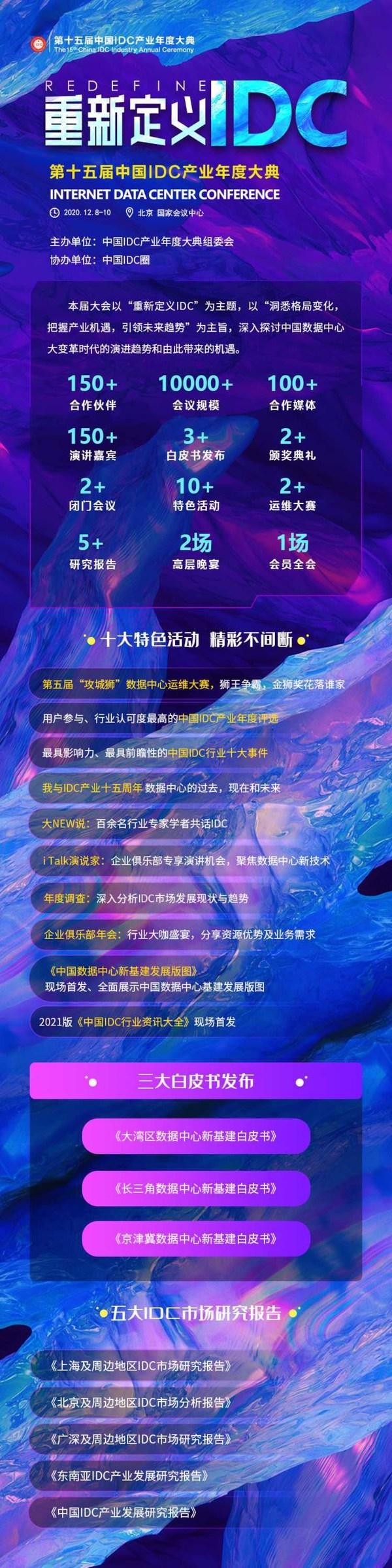 IDCC2020第十五届中国IDC产业年度大典即将开启 议程精彩抢先看