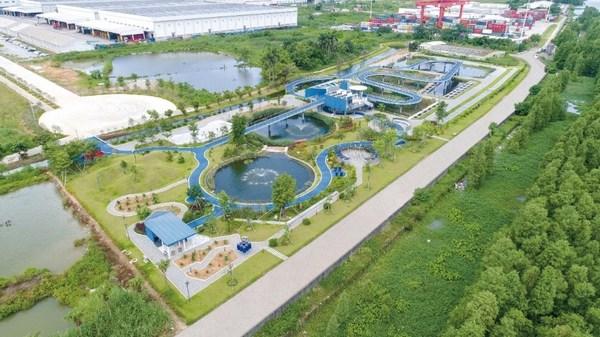 李锦记新会生产基地人工湿地公园
