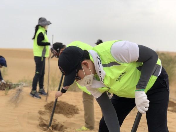 "GKL通过""GKL绿色生态园建设"" 为防止沙漠化和沙尘暴做出贡献"