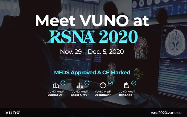 VUNO將攜其AI解決方案和研究成果亮相RSNA 2020