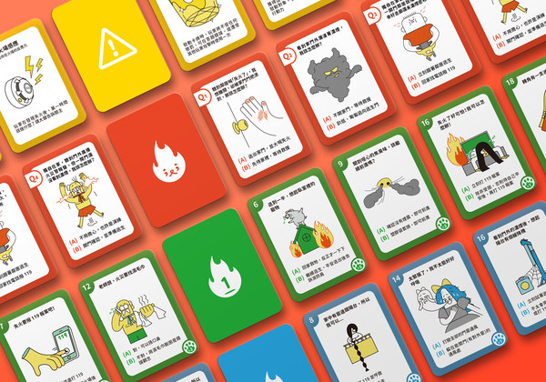 """Match Cat"" board game simulates a fire in a building, guiding players to think about the route of emergency escape"