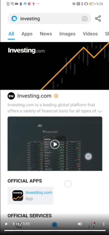 Invesitng.com加入华为Petal Search商业化产品Brandbox体验计划