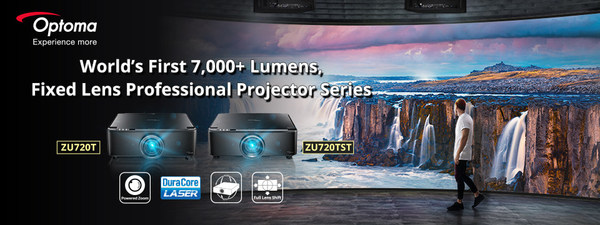 Introducing World's First 7,000+ Lumens, Fixed Lens, Professional Laser Projectors - Optoma ZU720T & ZU720TST