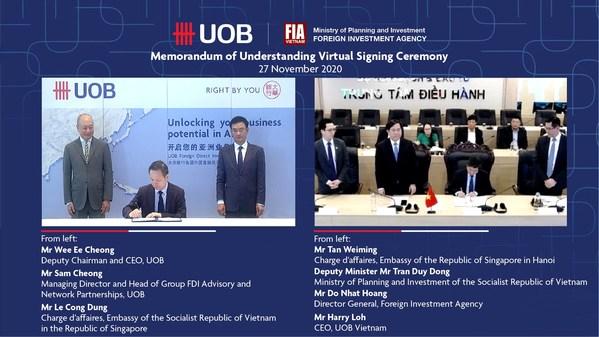 大华银行与越南外国投资局合作,将30多亿新元FDI引入越南