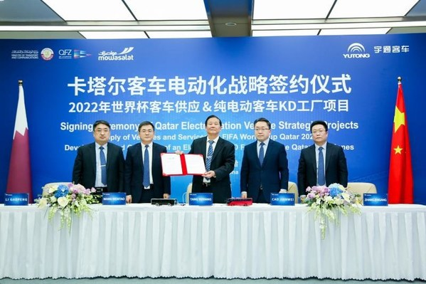 Công ty Yutong Bus sẽ cung cấp 1.002 xe buýt trong thời gian diễn ra World Cup 2022, một đơn hàng xe buýt điện lớn nhất trong lịch sử