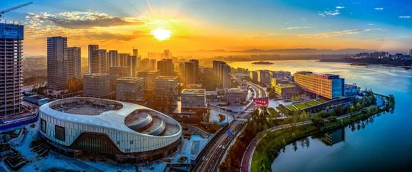 多くの技術企業や研究施設を集積する中国南西部四川省の成都サイエンスタウン