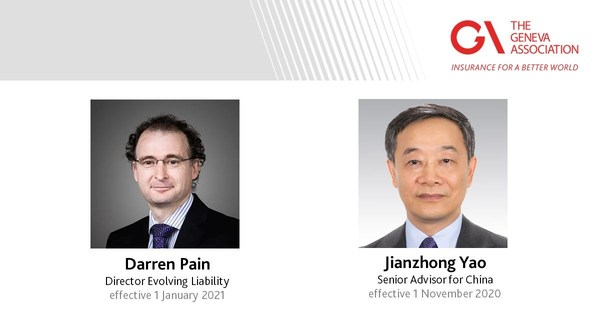 Darren Pain, Director Evolving Liability (effective 1 January 2021), and Jianzhong Yao, Senior Advisor for China (effective 1 November 2020) – The Geneva Association