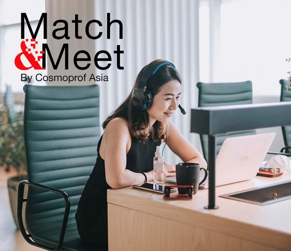 不论是参展商或参观者都在亚太区美容展的 Match&Meet 商贸配对平台上进行积极互动。
