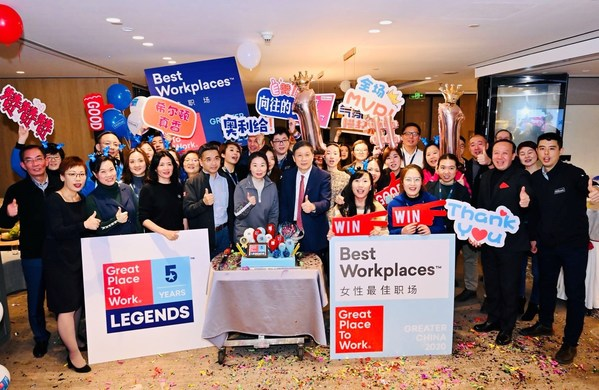 """Hilton Named """"The Legend"""" as it Takes Top Spot in Best Places to Work in Greater China"""