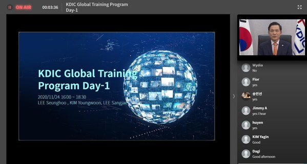 Seong Bak Wi, the President of the Korea Deposit Insurance Corporation, delivered a welcome speech at the 2020 KDIC Global Training Program via RemoteSeminar.