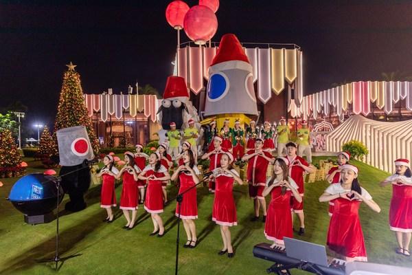 金茂三亚亚龙湾希尔顿大酒店举办动漫主题圣诞星空舞会