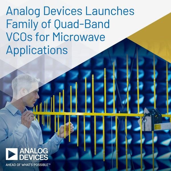 ADI推出適用於微波應用的四頻段VCO系列