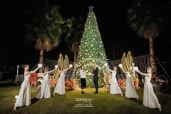 杭州金沙湖和达希尔顿嘉悦里酒店2020年圣诞完美亮灯