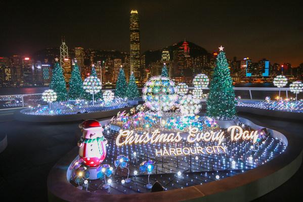 """香港海港城将凸显香港地标 —""""海运观点""""打造成""""圣诞灯饰花园""""。"""