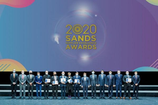 一眾表現突出的供應商在威尼斯人劇場舉行的2020金沙卓越供應商頒獎禮上獲嘉許。
