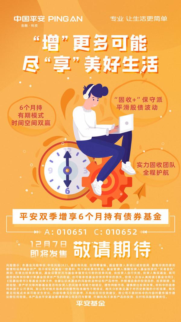 """平安基金固收团队""""上新"""",双季增享6个月持有债基12月7日起发行"""