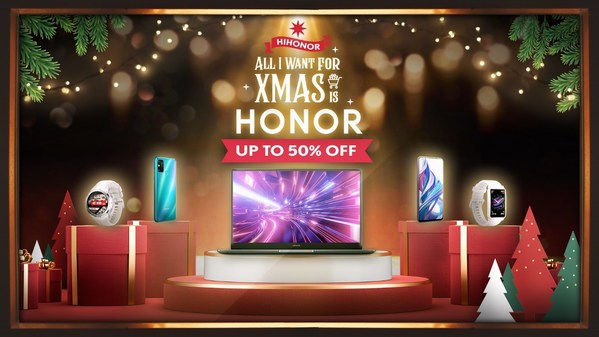 HONOR Christmas Gift 2020 Embraces People With Trendy Products With up to 50% Off