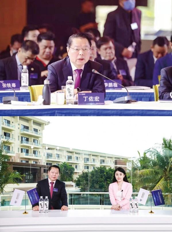 月星集团董事局主席丁佐宏在2020中国企业家博鳌论坛圆桌会议上发言并接受新华网专访