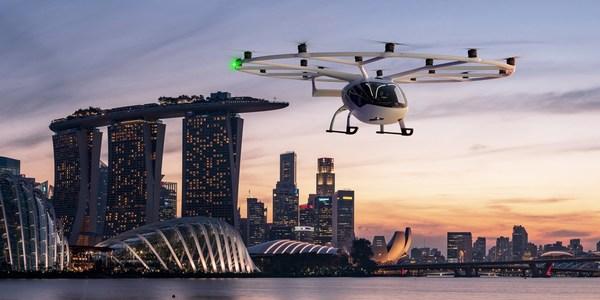 Volocopter将在新加坡推出空中的士