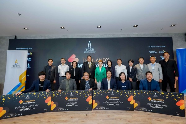 TCEB Announces Winners of the 3rd Edition of 'Thailand's MICE Startup' Competition