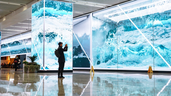 Trung tâm Giao thông Thượng Hải lắp đặt 1.800 m² màn hình LED Absen