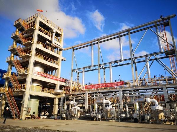 广汇能源LNG接收站气化外输工程一次性投产成功