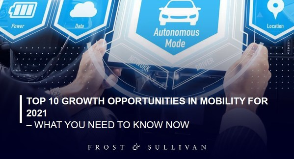 Frost & Sullivan Introduces 10 Growth Opportunities in Mobility for 2021