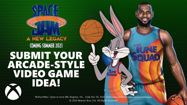 Microsoft and Warner Bros. Pictures Assemble All-Star Team in LeBron James, Bugs Bunny and Xbox to Celebrate Gaming and Coding Education Inspired By The Upcoming Animated, Live-Action Adventure 'Space Jam: A New Legacy'