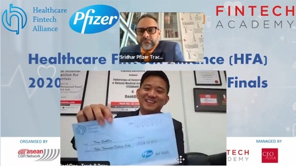 BookDoc won the Pfizer and Alibaba jointly organized competition - Healthcare Fintech Alliance (HFA) Innovation Challenge, Asia