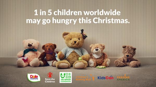 今年聖誕,全球多達五分之一的兒童可能死於饑餓。Dole Unstuffed Bears 計劃致力提高解決全球飢餓危機的意識及資金。
