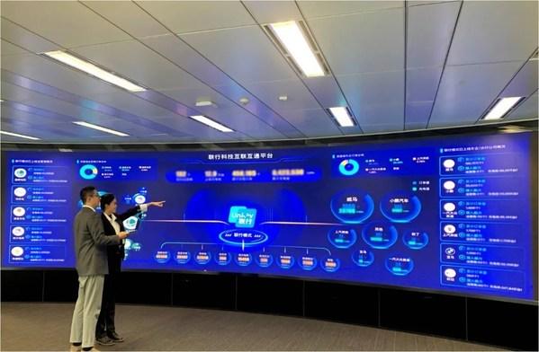 联行科技工作人员通过互联互通平台分析充电设施运营情况