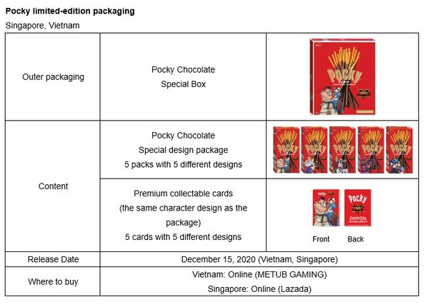 Pocky limited-edition packaging - Singapore and Vietnam
