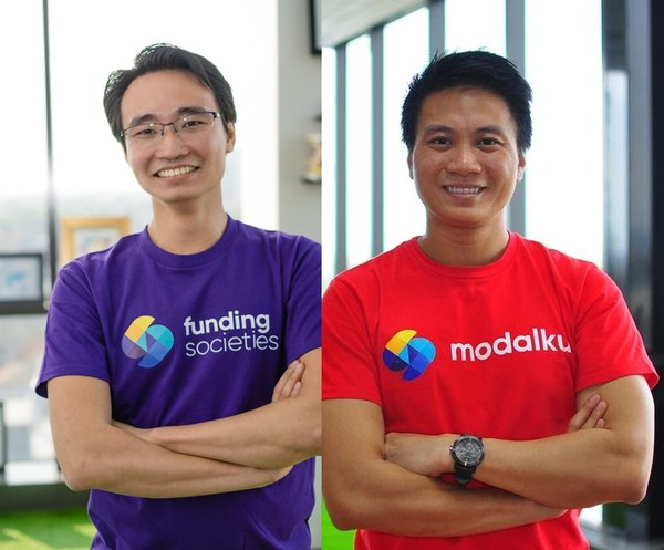 (Left to right): Kelvin Teo, Co-founder & Group CEO; Reynold Wijaya, Co-founder