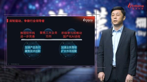 燧原科技创始人兼CEO赵立东表示燧原科技要坚持双轮驱动,争做行业领导者