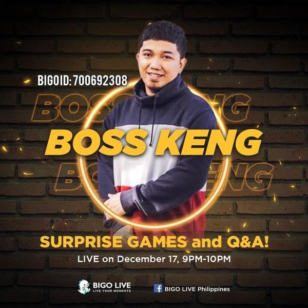 Boss Keng Brings Comedy Skits onto Bigo Live