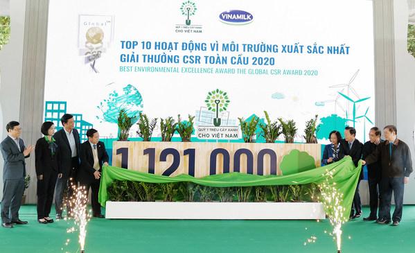 Vinamilkの「100万本の木」イニシアチブがGlobal CSR Award 2020を受賞