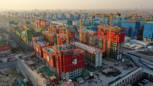 The First Elevator of the Resettlement House in Xiong'an Rongdong District is Delivered, and the Installation of Hitachi Elevator's 110,000th Elevator of the Year is Completed