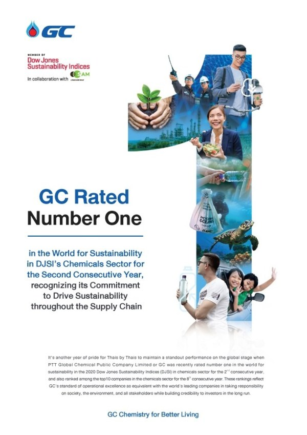 GC's Sustainable Operation Result GC Ranked Number One in the World in the DJSI chemicals sector for the second consecutive year